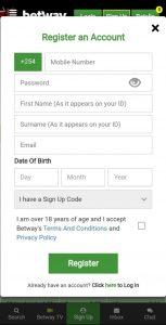 Betway Registration