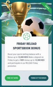 22 bet - friday reload sportsbook bonus