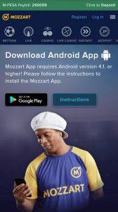 Mozzartbet Install Android apk